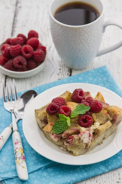 overnight raspberry & cream cheese french toast