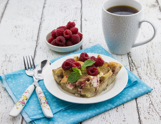 overnight raspberry & cream cheese french toast