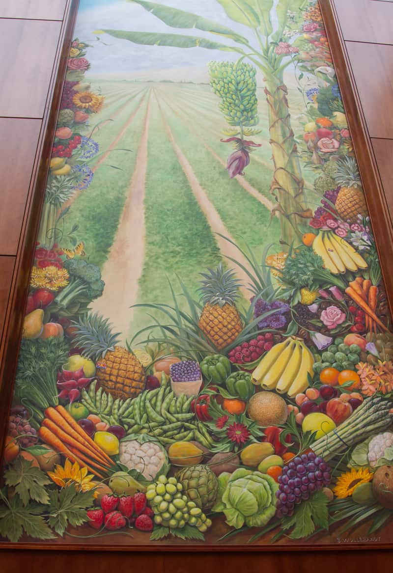 A gorgeous mural inside DOLE headquarters.