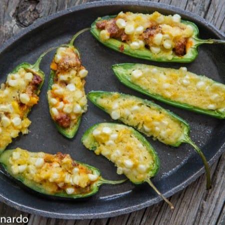 Sweet Corn Cake & Mexican Chorizo Poppers