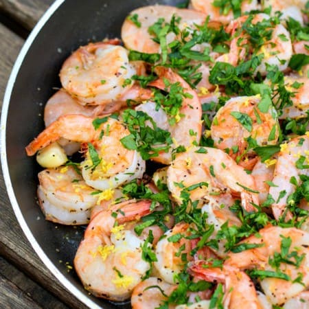 4-minute spicy garlic shrimp