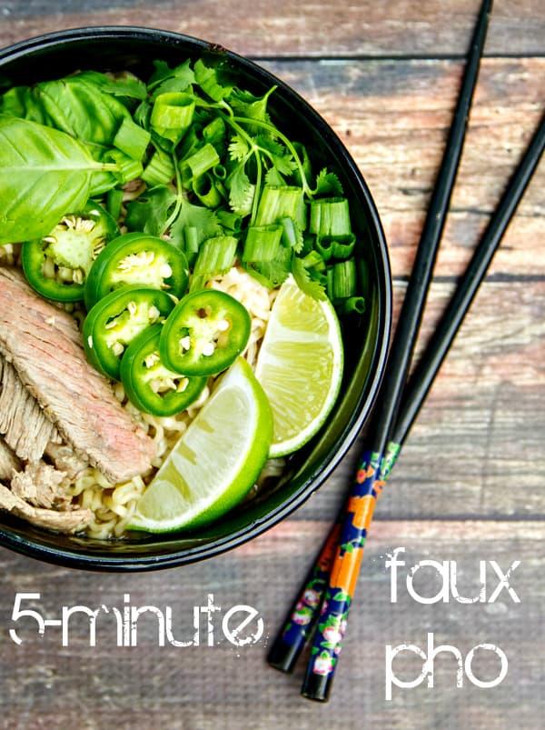 5-minute faux pho recipe | www.thewickednoodle.com | #pho #ramen