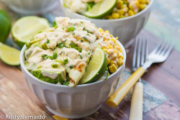 healthy fish taco salads! SO good - you'll never think about all the great nutrients & omega-3's you're getting!   www.thewickednoodle.com   #salad #healthy #fish