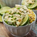 fish taco salad with a creamy chipotle dressing