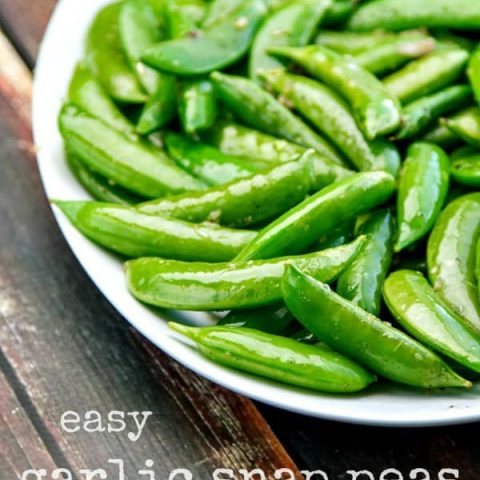 Easy Garlic Snap Peas