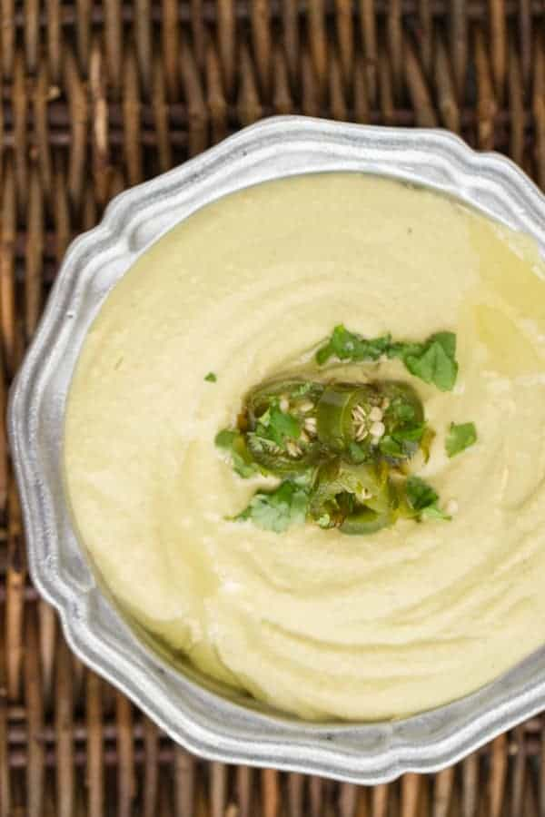 roasted jalapeno hummus | www.thewickednoodle.com
