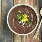 black bean soup with fresh summer corn