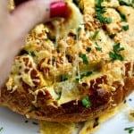 cheesy chive & garlic pull-apart bread