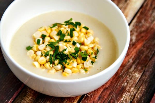 creamy summer corn & potato chowder - super creamy with no cream!