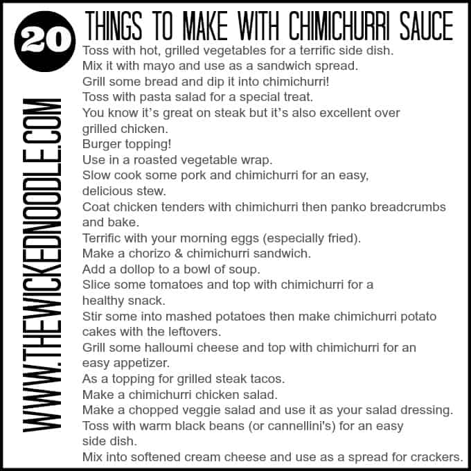 how to make chimichurri {and 20 ways to use it}