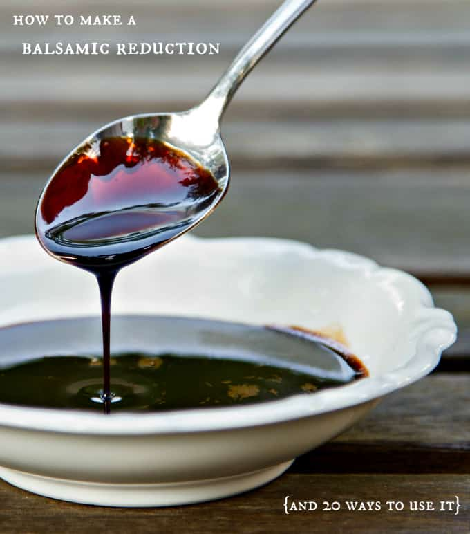 Making a balsamic reduction is easy with a big payoff! If you can boil water, you can make a balsamic reduction sauce to use on and in any number of dishes.