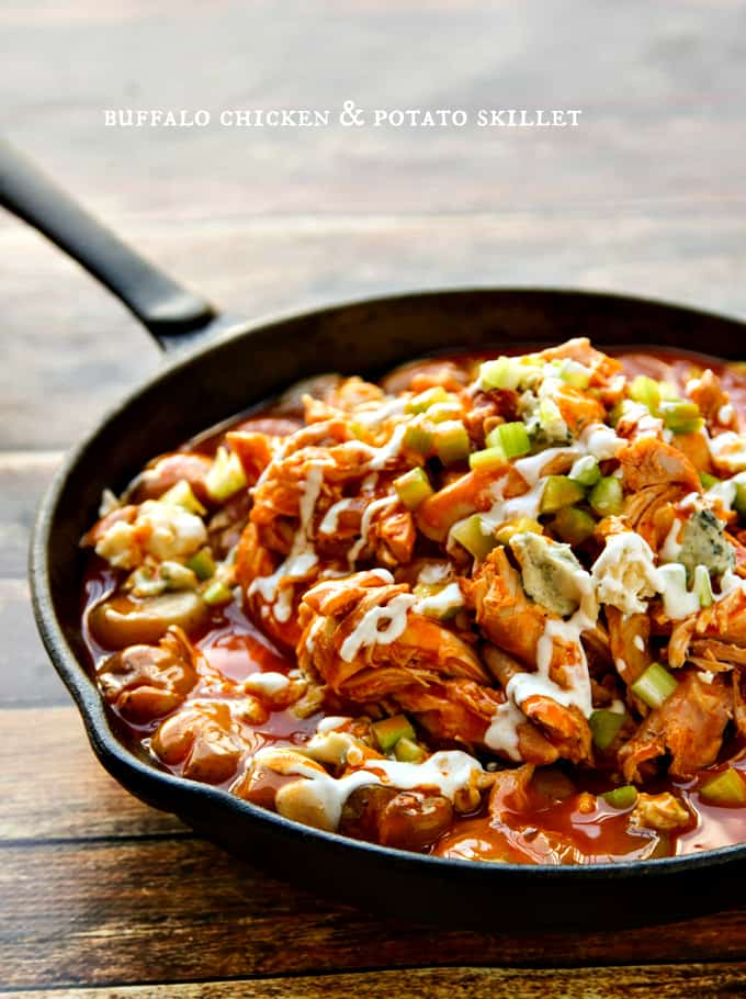 buffalo chicken & potato skillet - a one-pan dish!