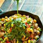 Steak & Potato Chimichurri with Fresh Summer Vegetables {one-pan meal}