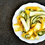 zucchini ribbons with lemon & black pepper vinaigrette