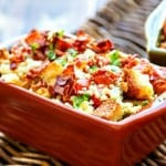 Bread and Tomato au Gratin Recipe with Bacon & Blue Cheese