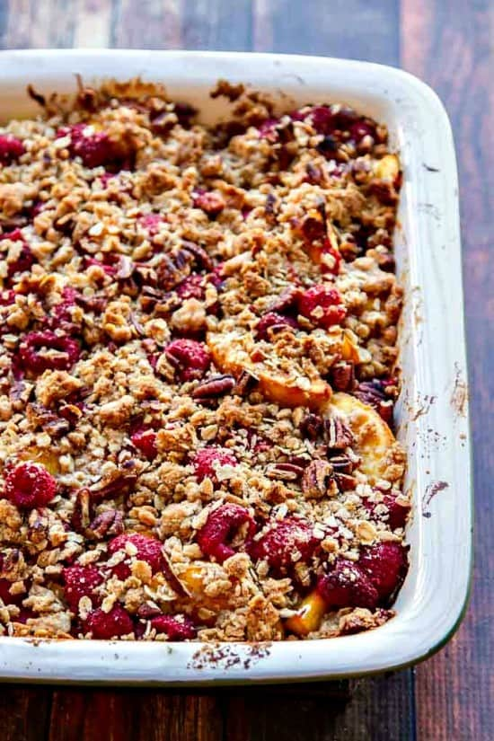 This Peach Cobbler Recipe has just enough sweetness without taking away the flavor of the summer fruit. A crunchy top makes it the best peach cobbler recipe!
