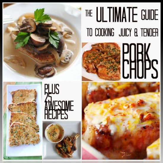Awesome tips for cooking juicy, flavorful pork chops every time! Plus some really awesome pork chop recipes.