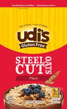 Udi's Steel Cut Oats - get the oatmeal cookie recipe!