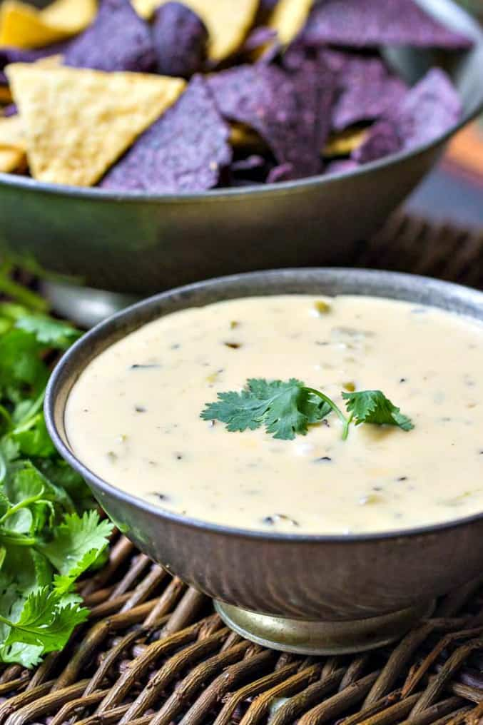 Queso Dip with Roasted Hatch Chiles