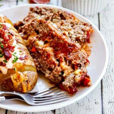 Brown Sugar Meatloaf with Chipotle Gouda