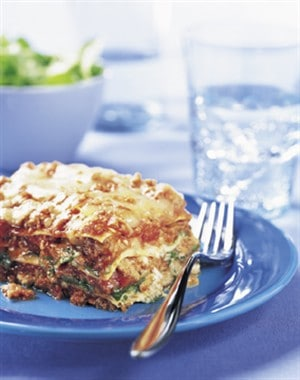 Beef Lasagna Recipe with Spinach and Arugula