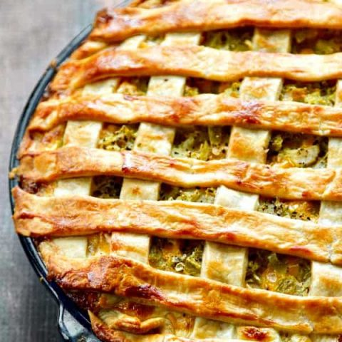 Easy as Chicken, Green Chile and Potato Pie! A lost recipe that a reader requested get recreated - yep, it's that good!