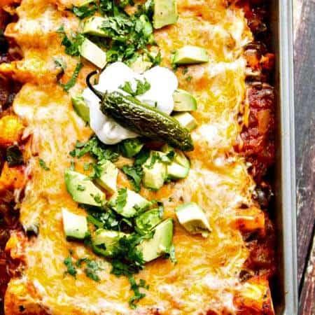 Chicken Enchiladas with Roasted Jalapenos