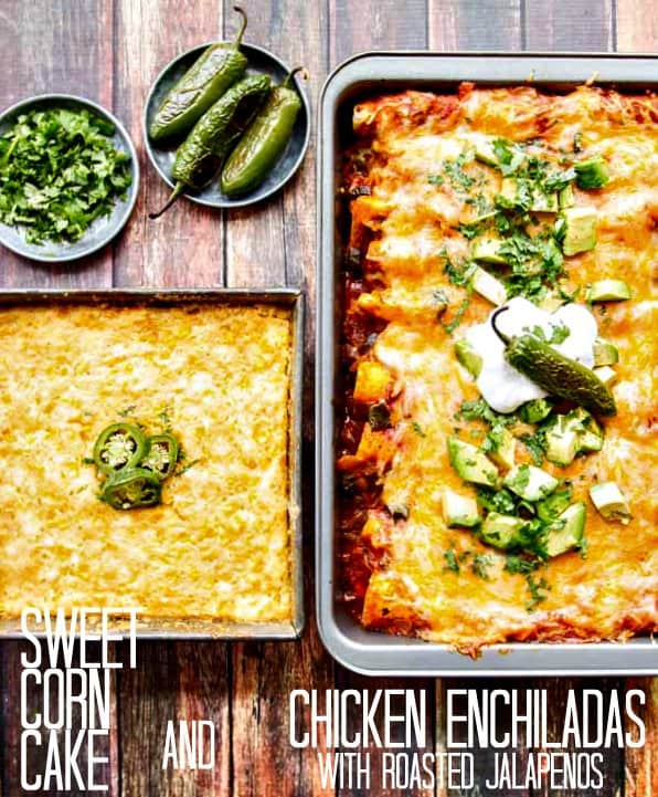 An easy recipe for killer Chicken Enchiladas. Makes a great use out of leftover Thanksgiving turkey, too!