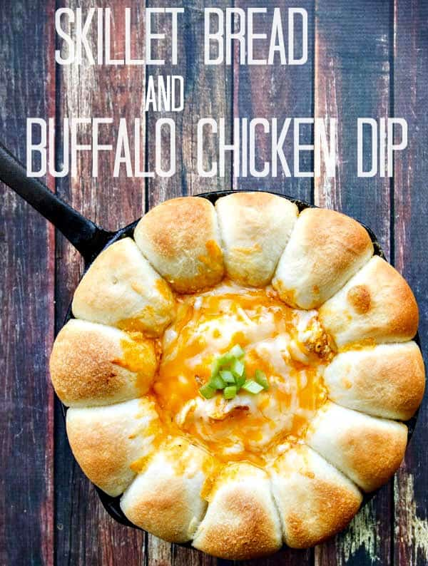 Bake your bread and Buffalo Chicken Dip all in one skillet!