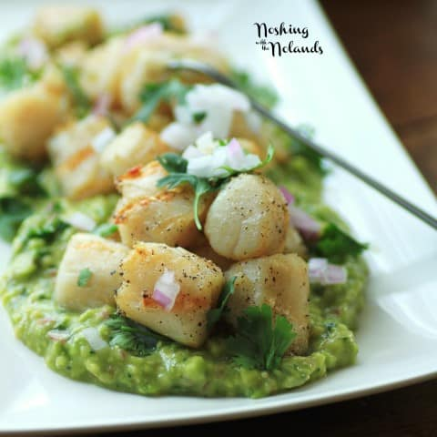 Grilled Wild Scallops with Avocado Puree - plus more awesome Scallop Recipes!