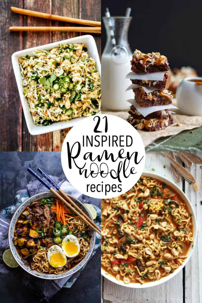A collage of ramen noodle recipes