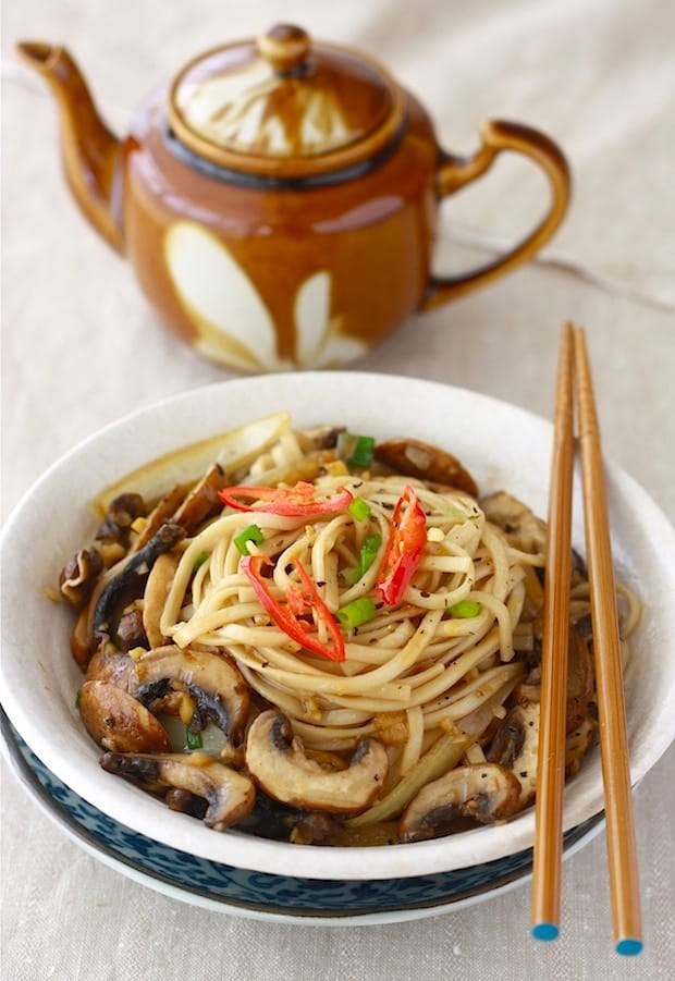 Easy Ramen Noodles with Sauteed Mushrooms | by Season with Spice | Click for 20 more easy Ramen Noodle Recipes!