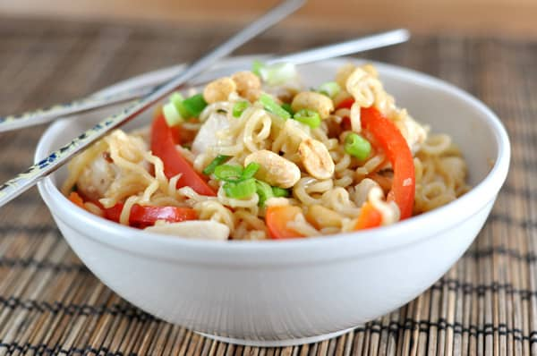 Kung Pao Ramen Noodles - Click for 20 more easy Ramen Noodle Recipes!