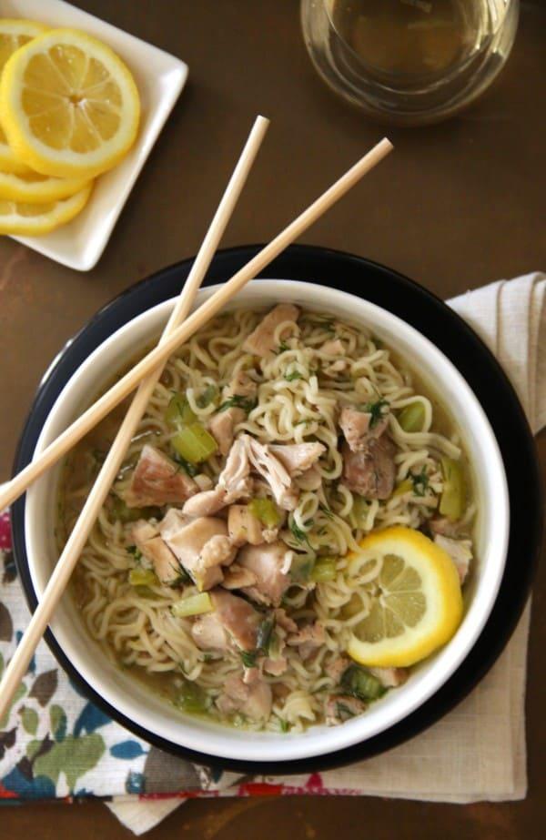Lemon Chicken and Ramen Noodle Soup - Click for 20 more easy Ramen Noodle Recipes!