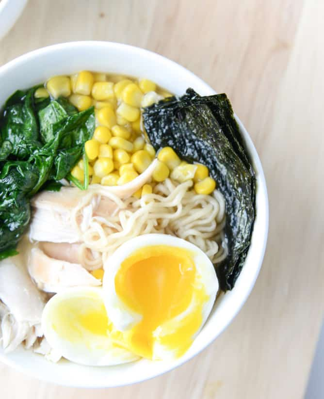 Roasted Chicken Ramen - Click for 20 more easy Ramen Noodle Recipes!
