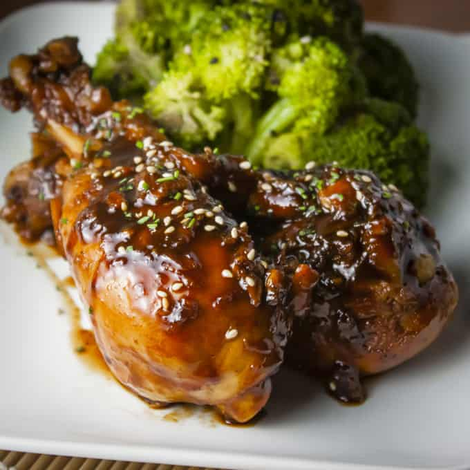 Sticky, delicious Asian Glazed Drumsticks - plus more easy Chicken Drumstick Recipes!