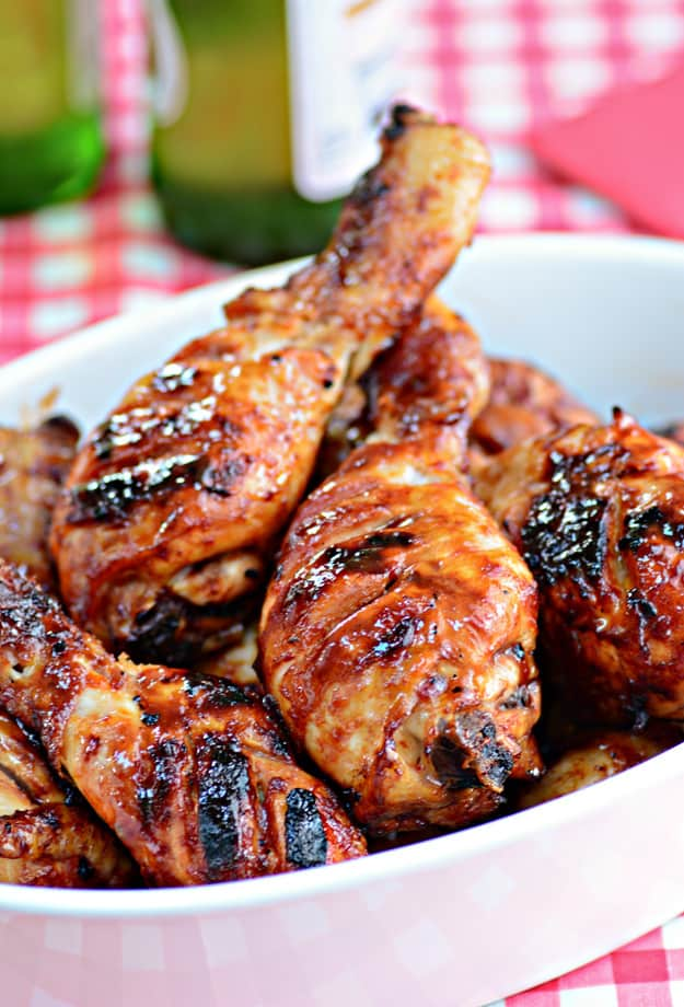 Barbecued Chicken Drumsticks - plus more easy Chicken Drumstick Recipes!