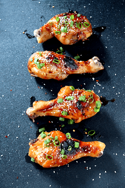 Korean Glazed Chicken Drumsticks -  plus more easy and awesome chicken recipes!