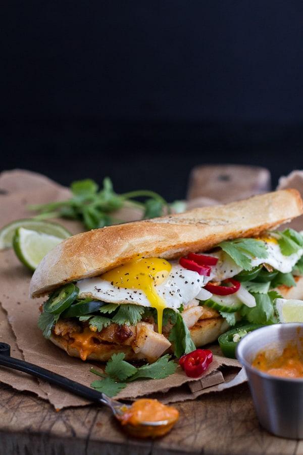 Mahi Mahi Banh Mi with Spicy Curried Mayo + Fried Eggs (plus more awesome Mahi Mahi recipes)!
