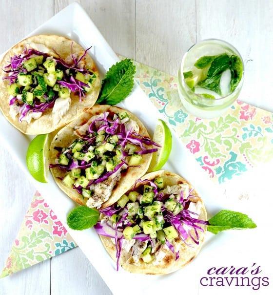 Melon Mojito Fish Tacos (plus more awesome Mahi Mahi recipes)!