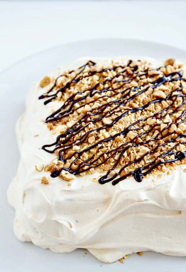 Peanut Butter Icebox Cake with Hot Fudge - just six ingredients and couldn't be easier! Tastes just like Peanut Butter Pie!