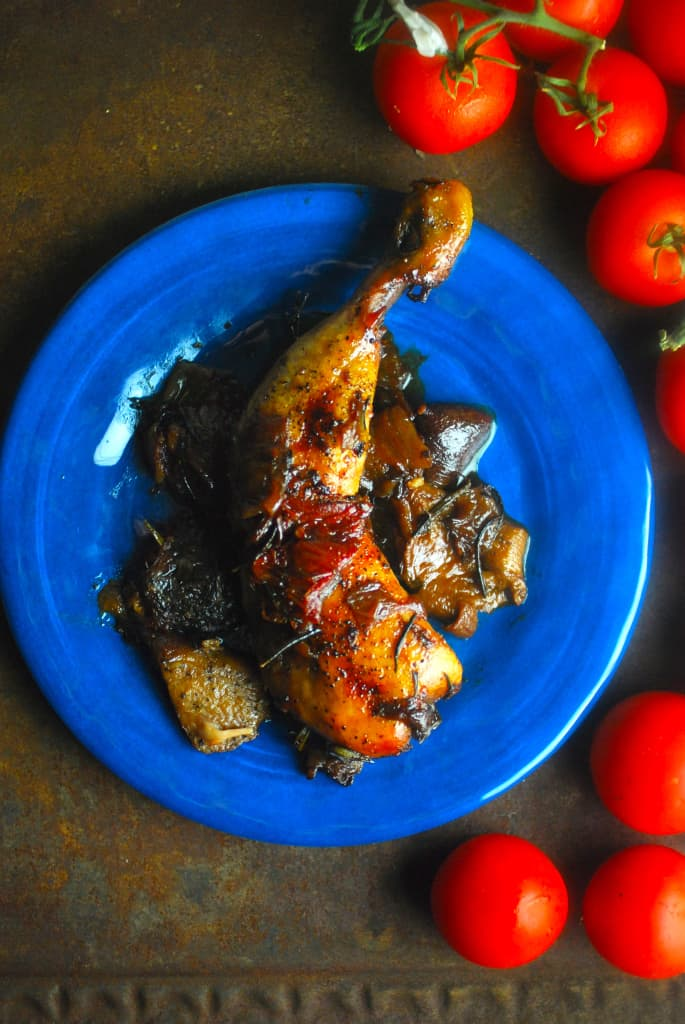 Slow-Roasted Chicken Legs with Sun-Dried Tomatoes plus more easy Chicken Drumstick Recipes!
