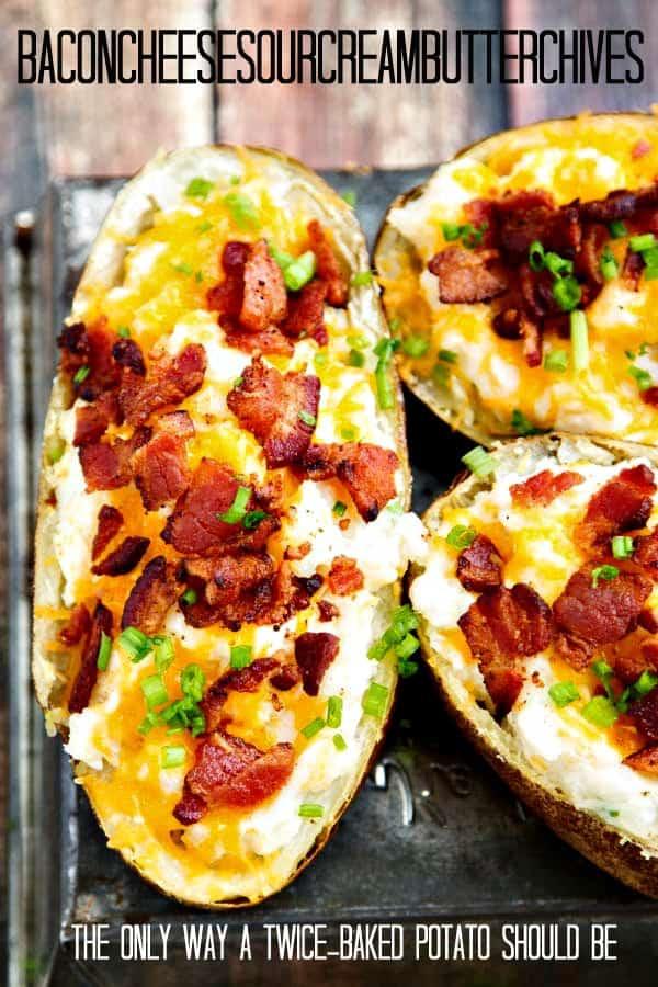 Twice Baked Potatoes Recipe Bacon