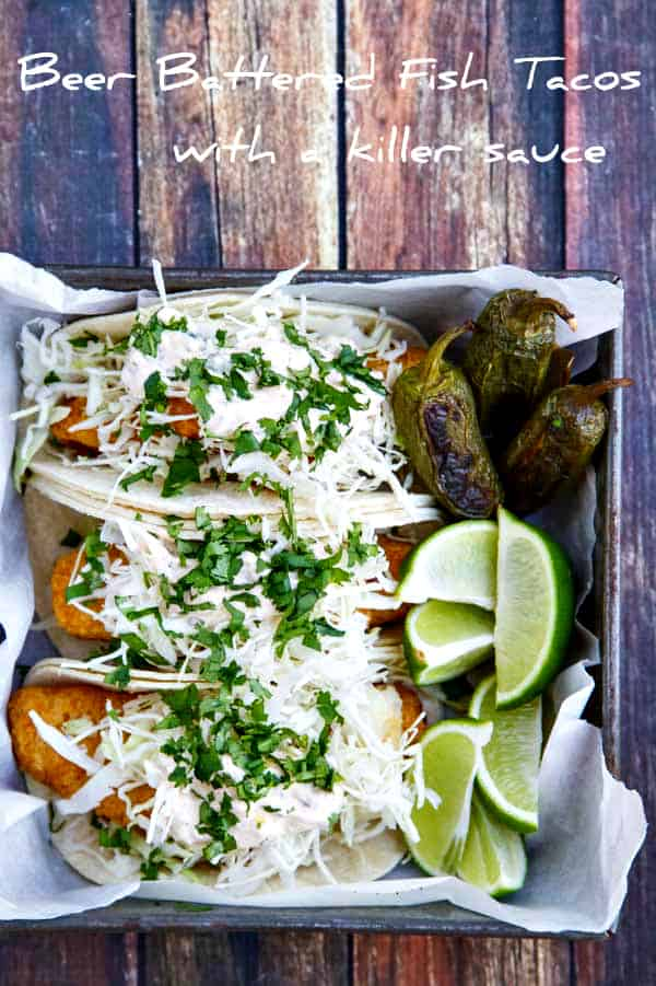 Beer battered fish tacos with negra modelo the wicked noodle for Beer battered fish tacos recipe