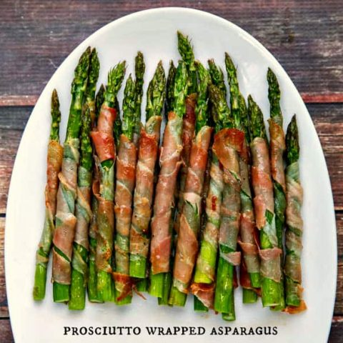 Prosciutto Wrapped Asparagus is incredibly simple to throw together and perfect in the oven or on the grill!