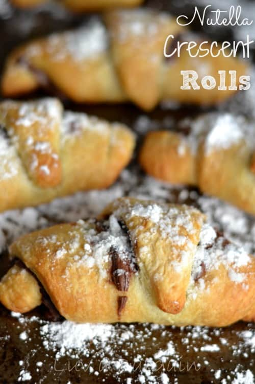 Nutella Crescent Rolls - plus a collection of both sweet and savory recipes using Crescent Roll dough!