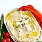 SO TASTY!! Lemon and Roasted Garlic Hummus Recipe