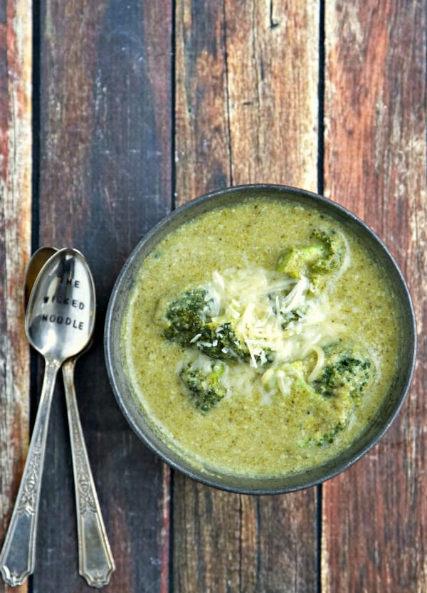 This Better For You Broccoli Soup is made with protein rich soy milk and lots of fresh, healthy broccoli! The best part is that it tastes AMAZING!