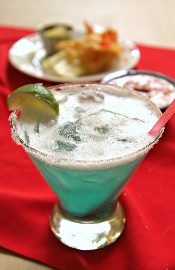 Turquoise Margarita from Double Eagle Restaurant