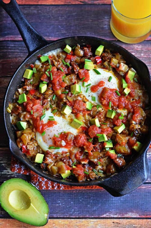 Chorizo Green Chile Breakfast Skillet - plus 49 more fabulous hatch chile recipes!